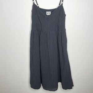 CONVERSE navy and white striped dress